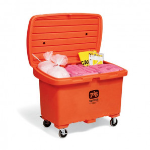 PIG Spill Kits in High-Visibility Storage Chests