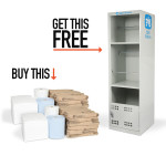 PIG® Oil-Only Absorbents Twin-Pack with FREE Spill Station Cabinet